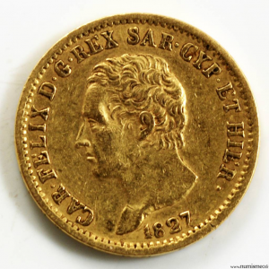 Italie 20 lire 1827 Turin