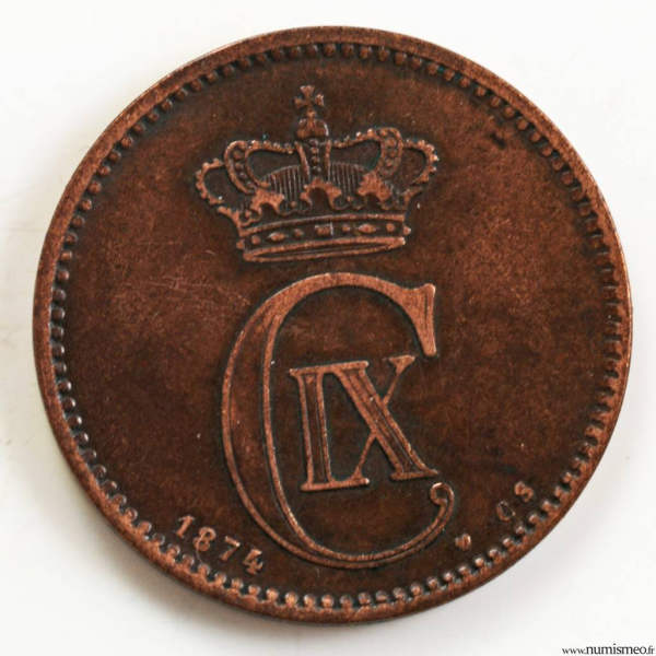 Danemark 5 ore 1874