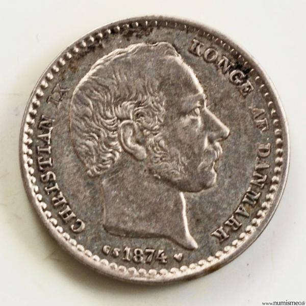 Danemark 25 ore 1874
