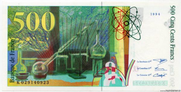 500 Francs Pierre et Marie Curie sans strap