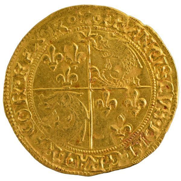 Francois I Ecu D'or au Soleil du Dauphiné Romans