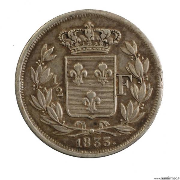 Henri V demi franc 1833