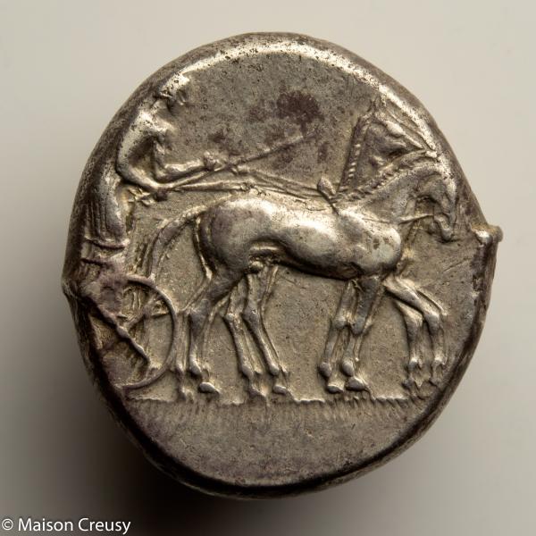 Sicile Tetradrachme frappé à Catane