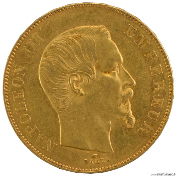 Napoléon III 50 francs 1856 Paris