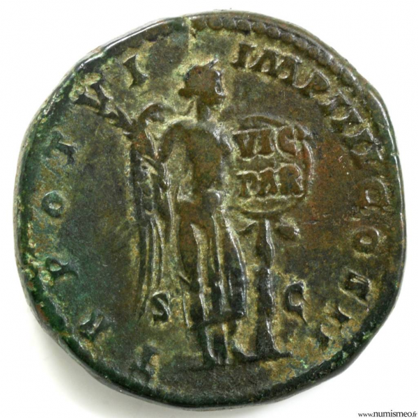 Lucius Verus Sesterce frappé à Rome