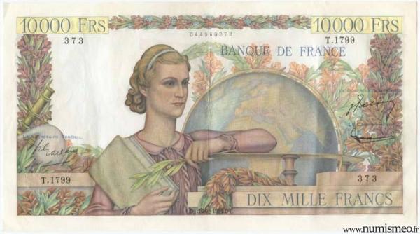 10000 Francs Genie Français