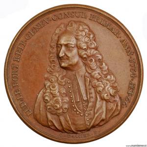 Suisse médaille pour Louis le Fort consul de Genève 1734