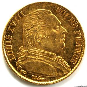 Louis XVIII 20 Francs 1815 Lille