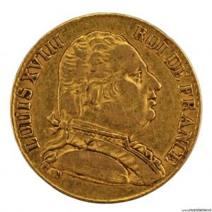 Louis XVIII 20 francs 1815 Londres