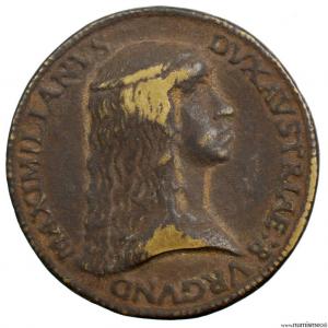 Autriche médaille de l'empereur Maximilien et de Marie de Bourgogne