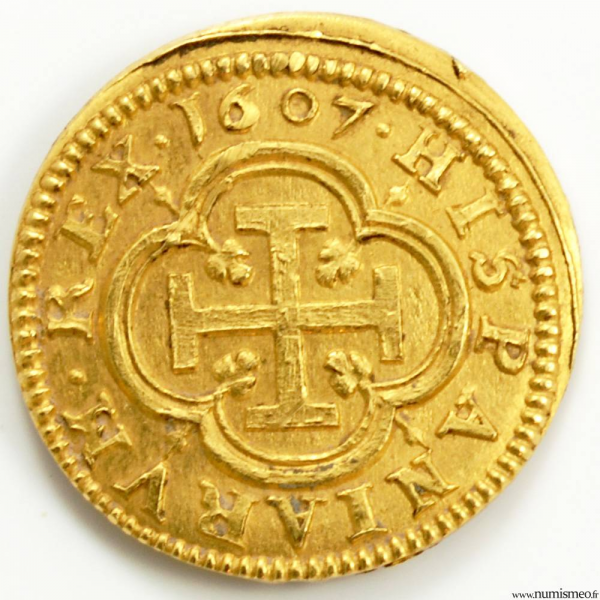 Espagne Escudo de Philippe III 1607 Segovie