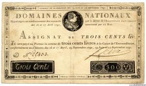 300 livres 12.9.1791