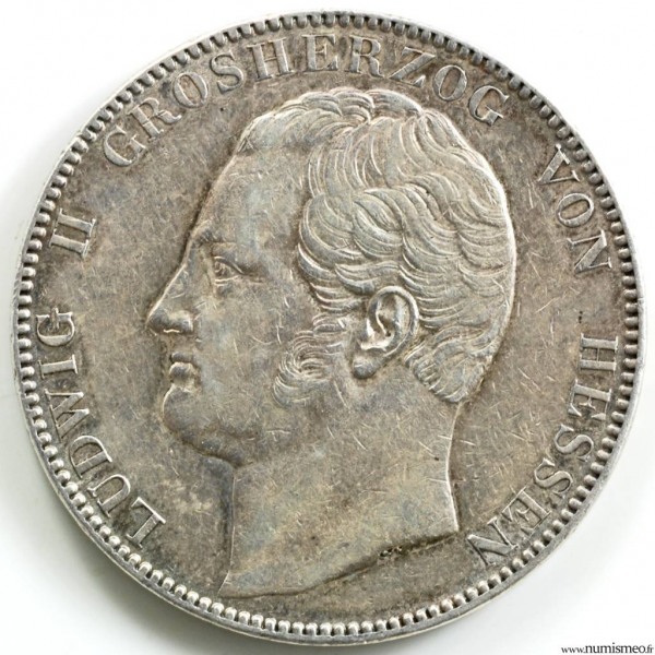 Hesse-Darmstadt 2 Thalers 1842
