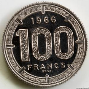 Cameroun 100 francs 1966 essai