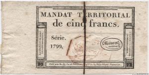 Mandat Territorial 5 Francs 21 Fructidor an VI (07/09/1798)