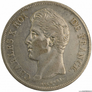 Charles X 5 francs 1828 Lille