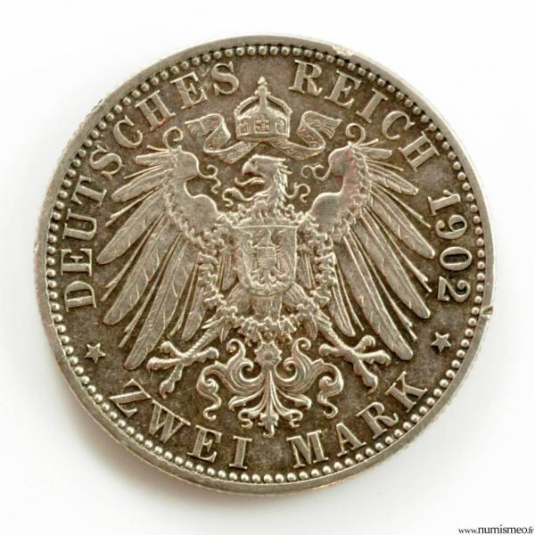 Allemagne Bade 2 mark 1902