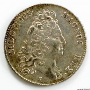 Louis XIV AR jeton 1705 secrétaire du Roi