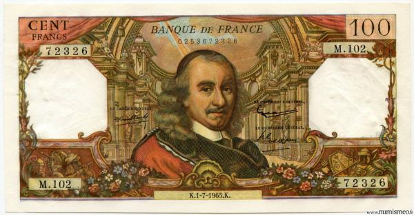 100 Francs Corneille K.1-7-1965.K.