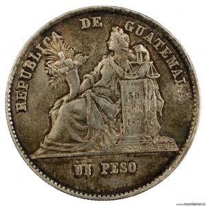 Guatemala peso 1873