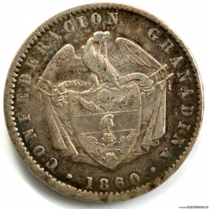 Colombie Peso 1860