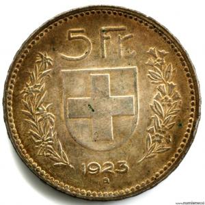 Suisse 5 francs 1923