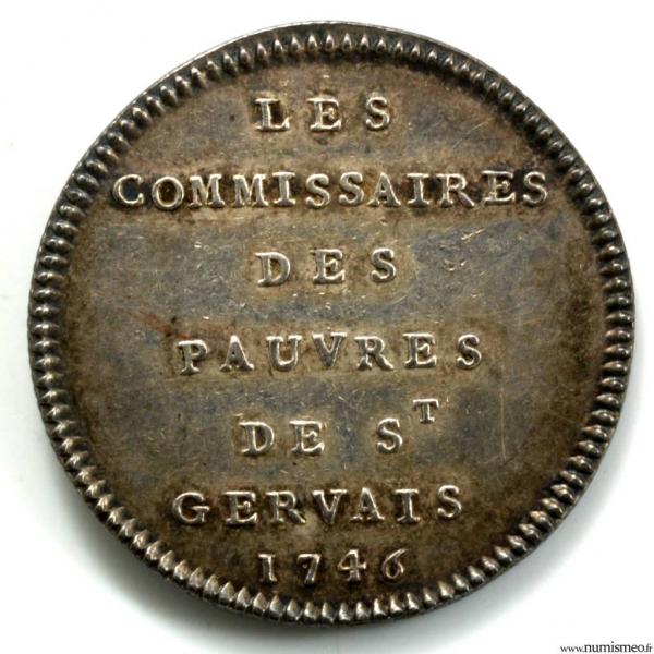 Jeton hybride des églises de paris Saint Gervais et Saint Protais