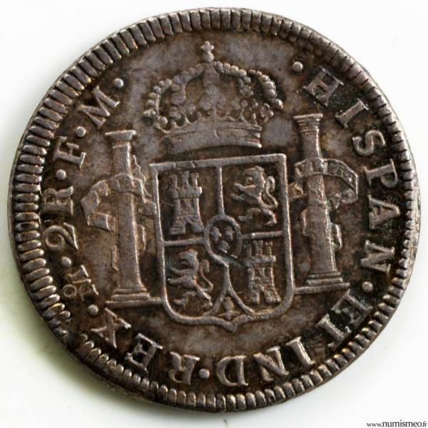 Mexique 2 reales 1786 Mexico FM