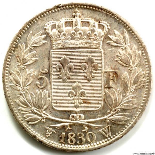 Charles X 5 Francs 1830 Lille