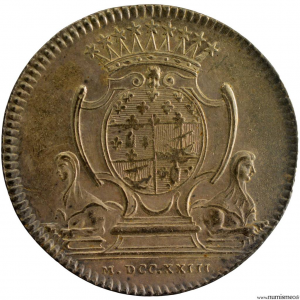 Louis XV AR jeton 1723 Paris corporation booksellers and printers