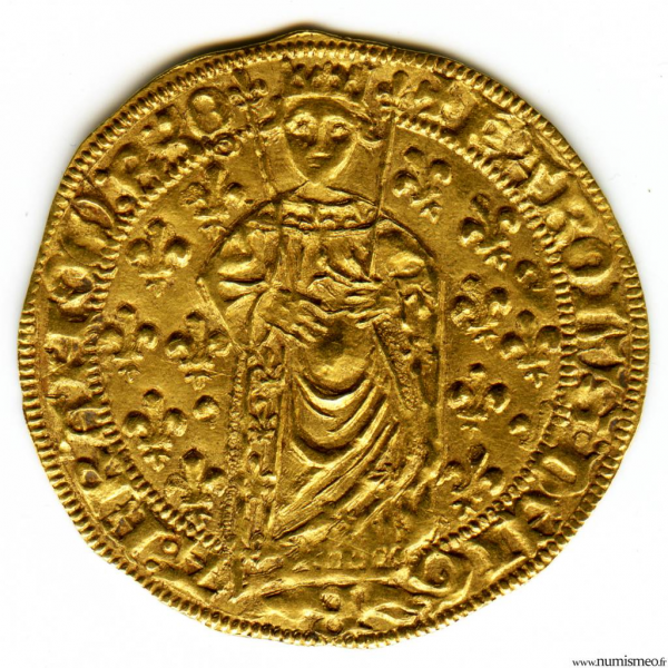 Charles VII Royal d'or 1ere emission pour Orléans