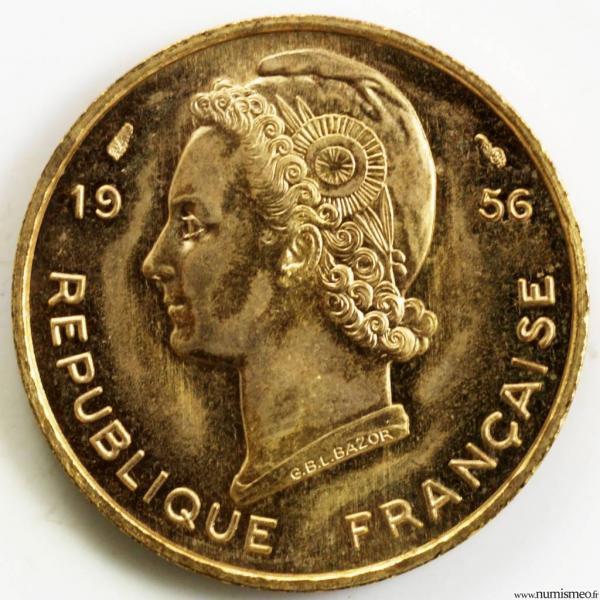 Afrique occidental française 10 francs 1956 essai