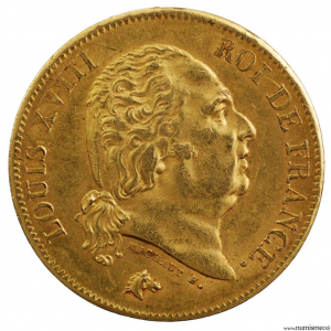 Louis XVIII 40 francs 1818 Lille