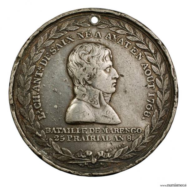 Médaille pour la mort du général Desaix à Marengo 1799