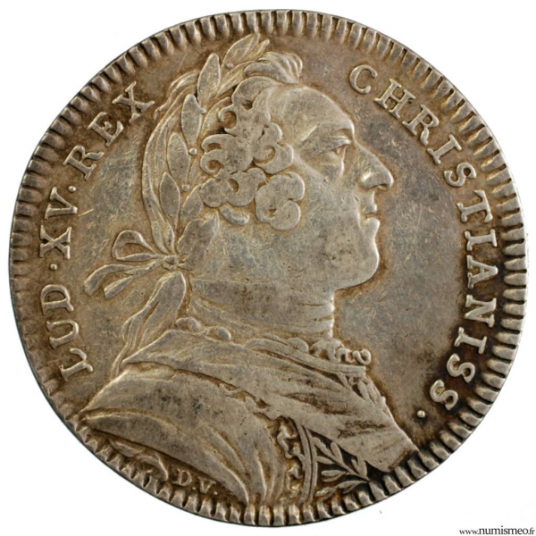 Louis XV jeton du trésor royal 1751