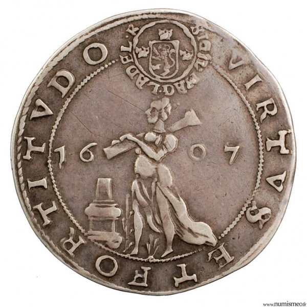 Suède 1/8 de riksdaler 1607 silver medal (largess money)