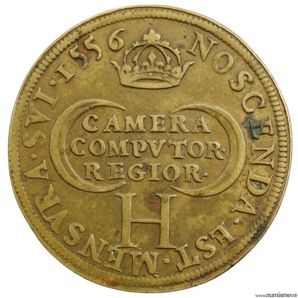 Henri II CU jeton 1556 chambres des comptes du roi