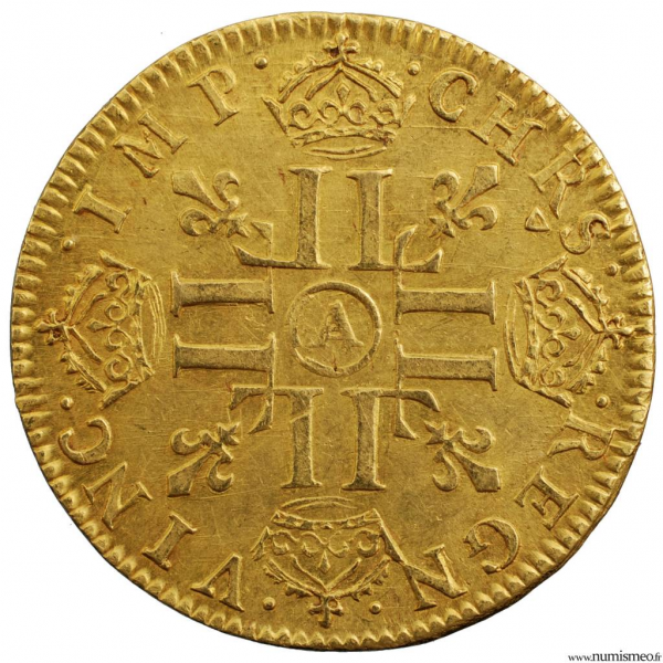 Louis XIV louis à la mèche longue 1651 Paris