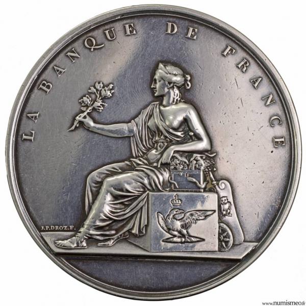 Médaille en argent pour la défense de la banque de France 1871