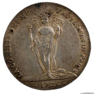 Louis XV AR Jeton 1726 corporation des tapissiers