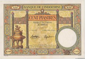 Indochine 100 piastres type 1927