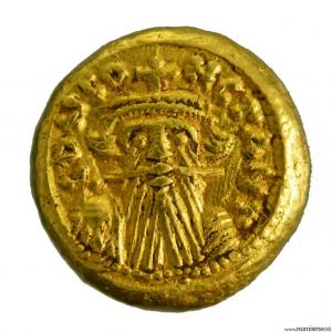 Constans II solidus frappé à Carthage