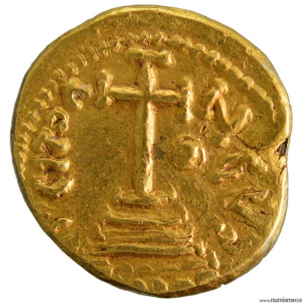 Constantin IV solidus frappé à Carthage