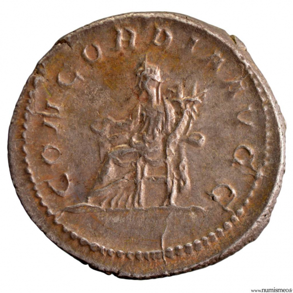 Otacilie Antoninien revers CONCORDIA