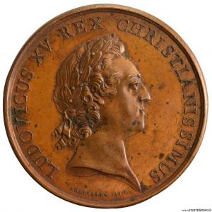 Louis XV médaille pour la Manecanterie de la cathedrale de Lyon