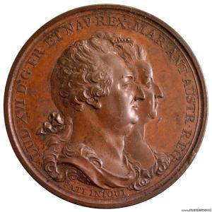 Louis XVI médaille pour la denière entrevue avec sa famille 1793