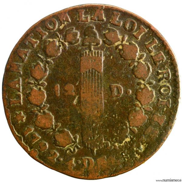 Constitution 12 deniers 1792 Pau