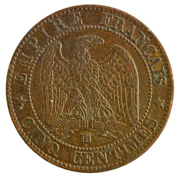 Napoleon III 5 centimes 1856 Strasbourg