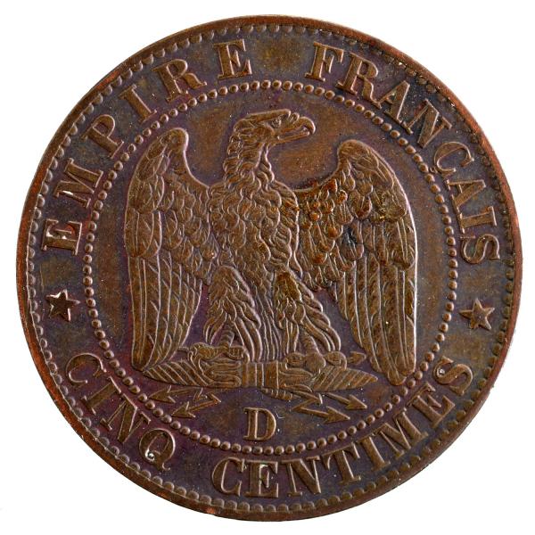 Napoleon III 5 centimes 1856 Lyon
