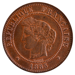 III République 5 centimes Ceres 1883 Paris